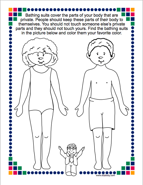 kindergarten lessons for sexual abuse prevention school counseling by heart - Good Touch Bad Touch Coloring Book